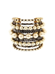 Erickson Beamon Stratosphere Faux Pearl And Crystal Cuff