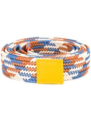 Sofie D'hoore Multi Striped Belt Yellow Orange