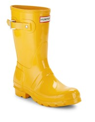 Hunter Rubber Rain Boots Yellow