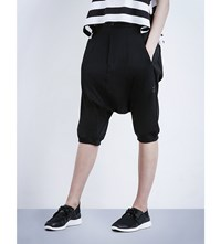 Y 3 Dropped Crotch Jersey Shorts Black