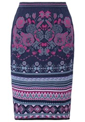 Kooi Pencil Skirt Purple