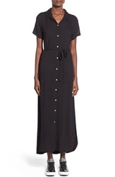 Junior Women's Jella C. Button Front Maxi Dress