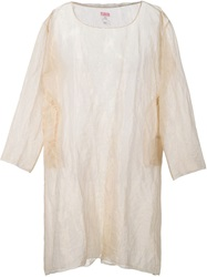 Dosa Sheer Metallic Tunic Nude And Neutrals