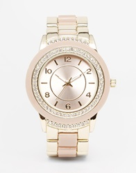 New Look Danni Nude Link Watch Gold