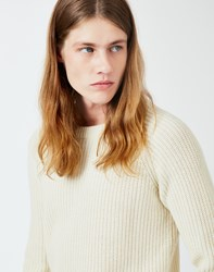 Gant Rugger Half Knit Jumper Cream
