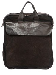 Numero 10 Idaho Reversed Leather Backpack Brown