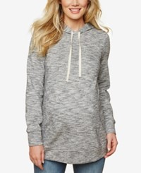 Motherhood Maternity French Terry Hoodie Grey Spacedye