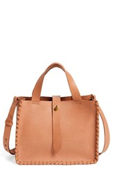 Madewell Whipstitch Mini Leather Tote Bag Beige Desert Sand