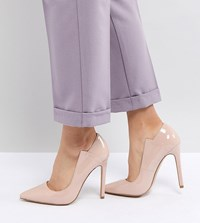 Lost Ink Patent Court Shoes Beige