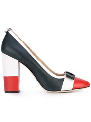 Thom Browne Striped Pumps Women Leather 39 Blue