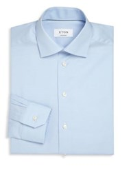 Eton Of Sweden Solid Cutaway Collar Shirt Blue