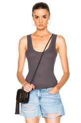 Enza Costa Rib Fitted Bold Tank In Green