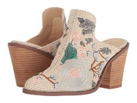 Chinese Laundry Springfield Mule Natural Woven High Heels Beige