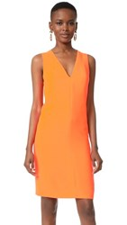 Narciso Rodriguez V Neck Dress Neon