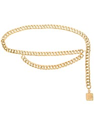 Chanel Vintage Perfume Bottle Chain Belt Metallic