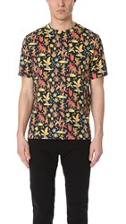 Paul Smith Allover Floral Print Tee Black