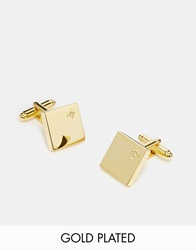 Asos Gold Plated Cufflinks With Real Diamonds