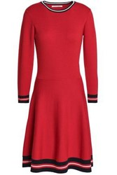 Chinti And Parker Wool Dress Red
