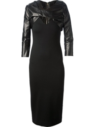 Dsquared2 Fitted Mid Length Dress Black