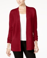 Charter Club Open Front Cardigan Created For Macy's New Red Amore