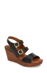 Bella Vita 'S Ani Wedge Sandal Black Leather