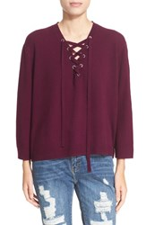 The Kooples Women's Lace Up Wool And Cashmere Sweater