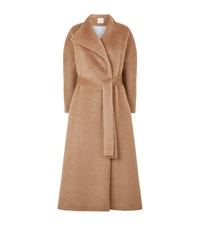 Delpozo Wool Coat Brown