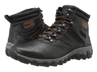 Rockport Cold Springs Plus Plain Toe Boot 7 Eye Black Leather Men's Boots