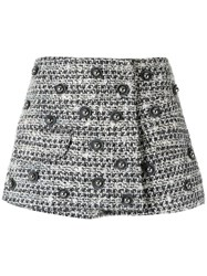 Andrea Bogosian Tweed Mini Skirt Women Cotton Acrylic Polyester Wool M Grey