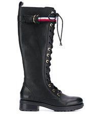 Tommy Hilfiger Long Biker Boots Black