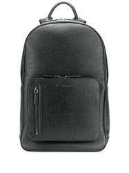 Ermenegildo Zegna Zip Pocket Backpack Black