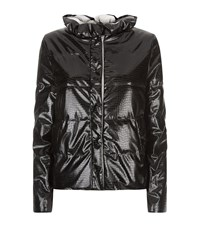 Emporio Armani Padded Crocodile Jacket Black