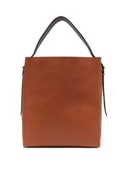 Valextra Adjustable Strap Grained Leather Tote Bag Tan