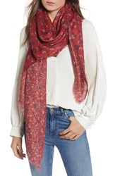 Treasure And Bond Print Wrap Red Floral Fan