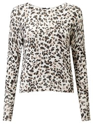 Marella Quiche Printed Jumper Cream
