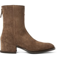 Givenchy Distressed Suede Boots Brown