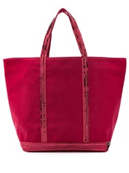 Vanessa Bruno Sequin Trim Tote Red