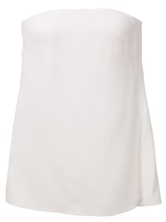 Adam By Adam Lippes Adam Lippes Strapless Top White