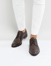 Dune Derby Shoes With Etched Brown Leather Brown