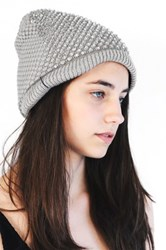 Do Everything In Love Rhinestone Beanie Beige