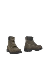 Serafini Ankle Boots Military Green