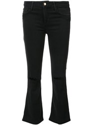 Joe's Jeans Cropped Bootcut Black