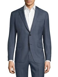 Theory Malcolm Camley Slim Fit Wool Jacket Washed Blue