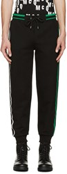 Mcq By Alexander Mcqueen Black Striped Lounge Pants