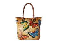 Anuschka Handbags 609 Large Shopper Earth Song Handbags Beige
