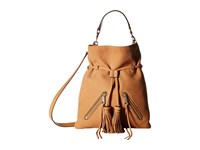 Rebecca Minkoff Large Moto Drawstring Crossbody Almond 1 Cross Body Handbags Orange