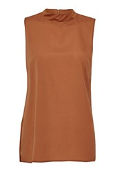 French Connection Polly Plains Sleeveless Top Orange