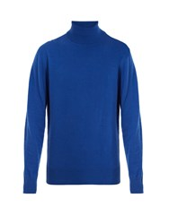 Raey Cashmere Roll Neck Mid Blue
