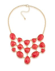1St And Gorgeous Studded Bib Necklace Gold