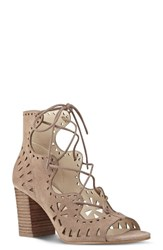 Nine West Women's Gweniah Ghillie Lace Gladiator Sandal Natural Suede